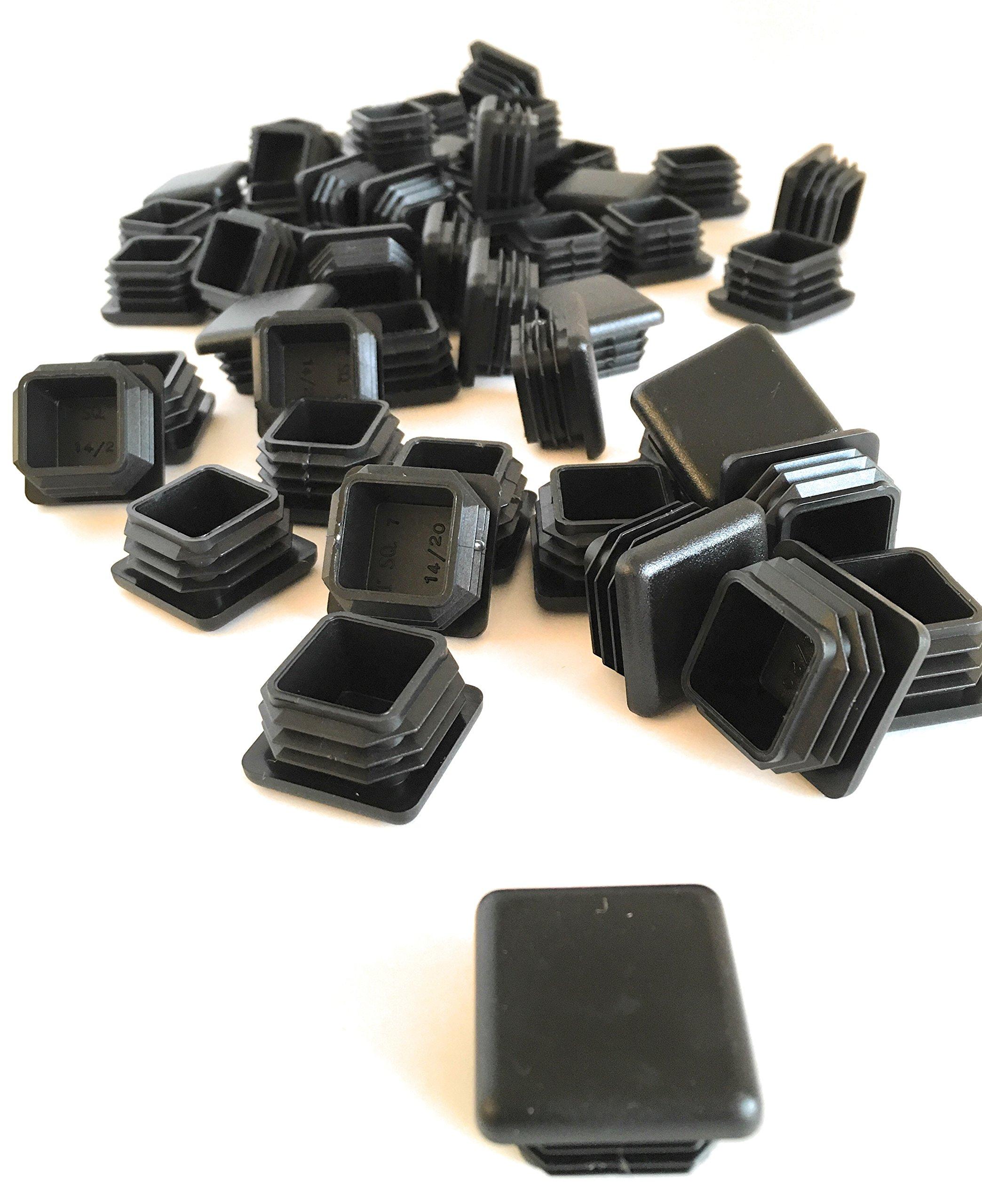 (50Pack) (14-20 GA) Square Plastic Polyethylene Plug 1''x 1''