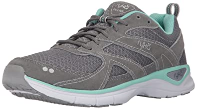 RYKA Women's Raleigh Walking-Shoes, Grey/Mint/Silver, 5.5 M US