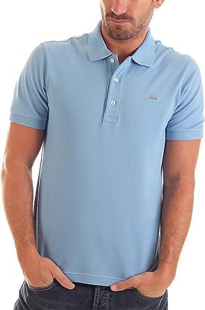 Lacoste Polo Slim Fit Azul Claro XL: Amazon.es: Ropa y accesorios