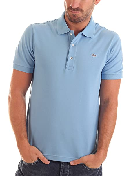 Lacoste Polo Slim Fit Azul Claro XL: Amazon.es: Ropa y accesorios