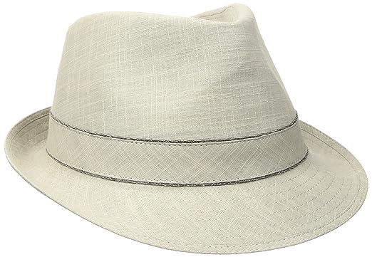 2cfe3cc04f8fee Stetson Men's Cotton Fedora Hat, Khaki, Medium at Amazon Men's ...