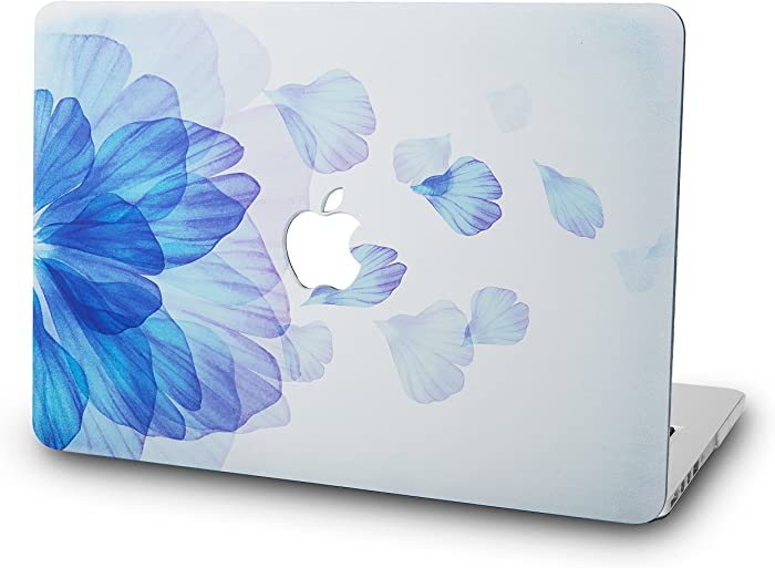 "KECC Laptop Case for MacBook Pro 13"" (2020/2019/2018/2017/2016) Plastic Hard Shell Cover A2289/A2251/A2159/A1989/A1706/A1708 Touch Bar (Blue Flower)"