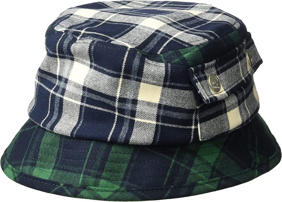 4afde689f13ad Kangol Men s Plaid Bucket HAT