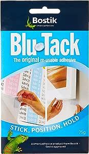 2 x Bostik Blu Tack Original Blue Sticky Reusable Tac Economy Handy Size 60g