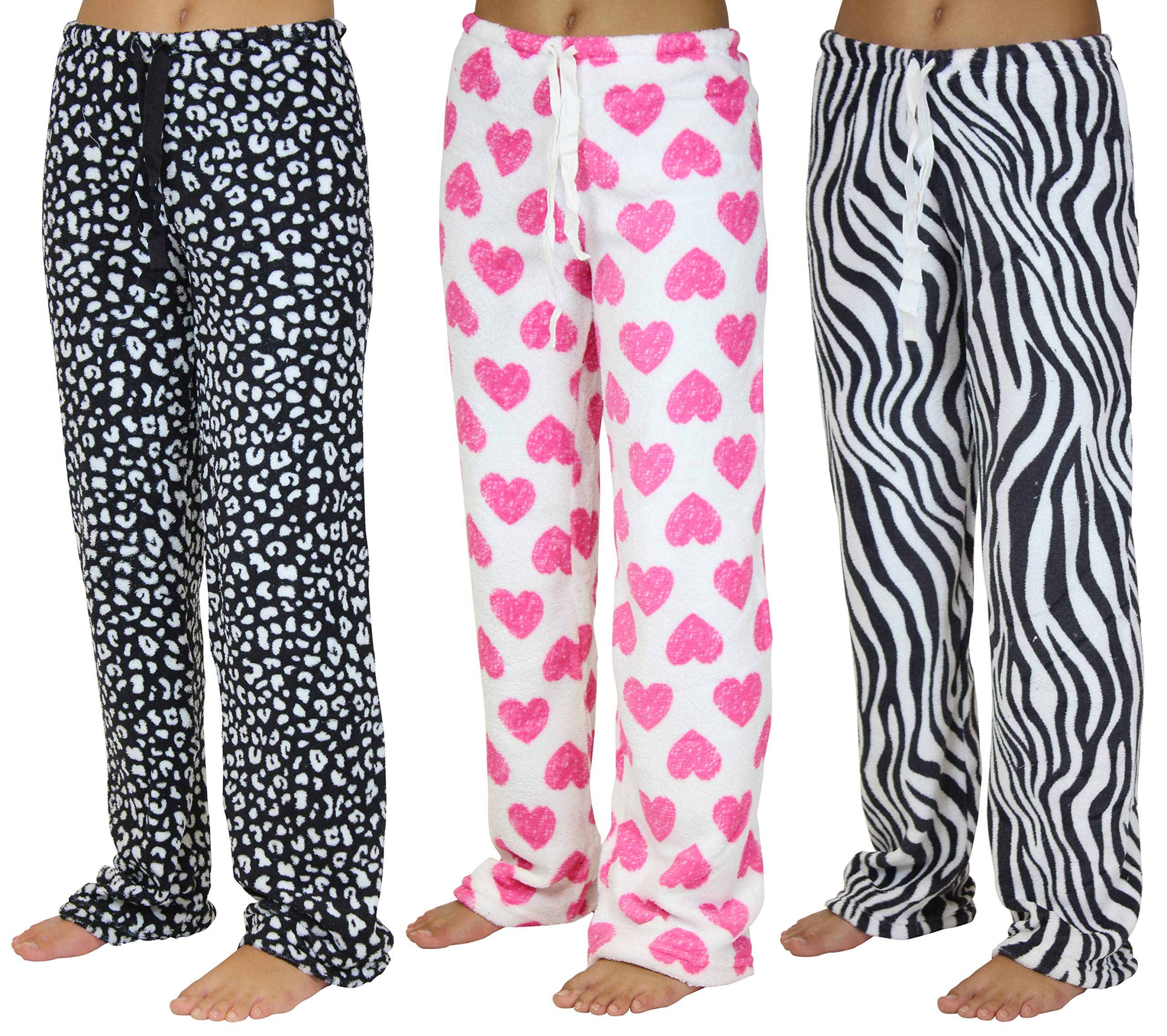 3 Pack:women'S Super-Soft Plush Fleece Pajama/Lounge Pants - Sloth Pajamas (Pj'S)