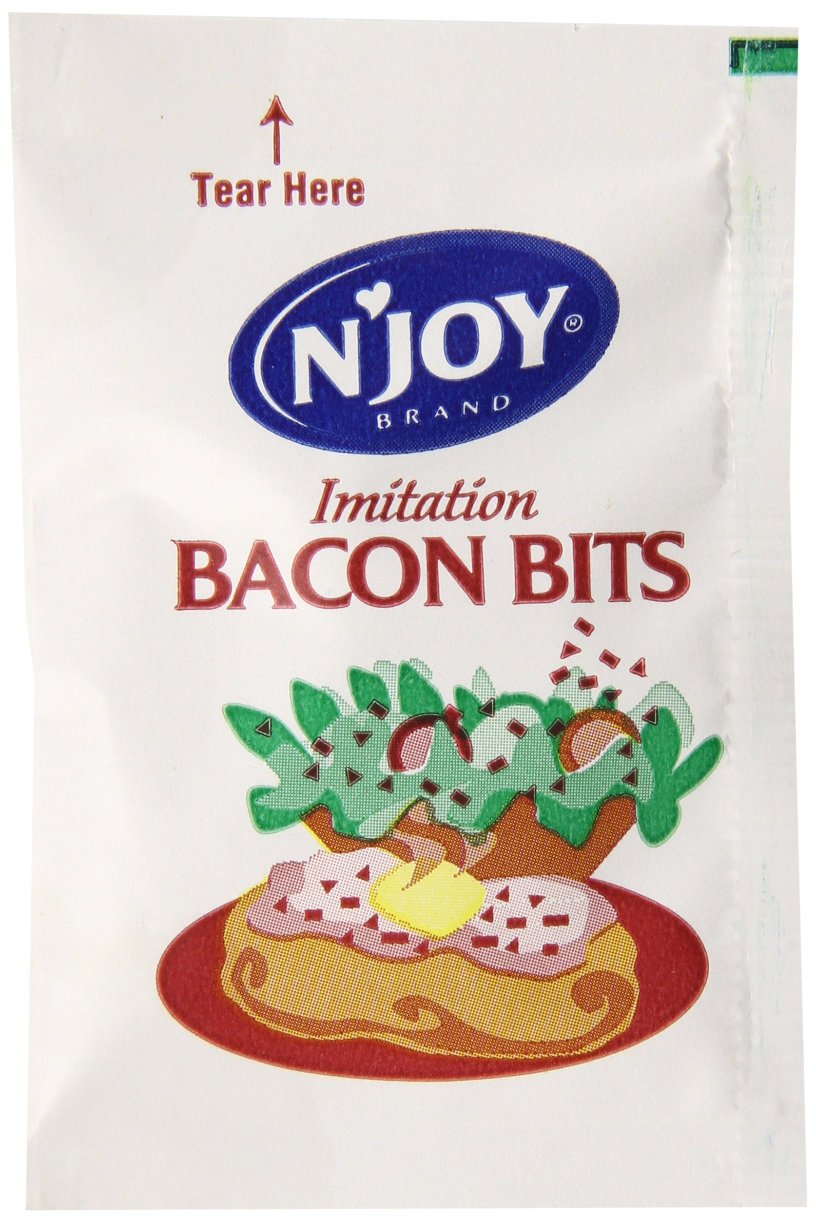 N'Joy Imitation Bacon Bits Packets, 500 Count