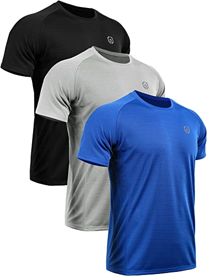 neleus men\u0027s dry fit mesh athletic shirts at amazon men\u0027s clothing  neleus men\u0027s 3 pack mesh athletic running sport shirt,5033,black,blue,