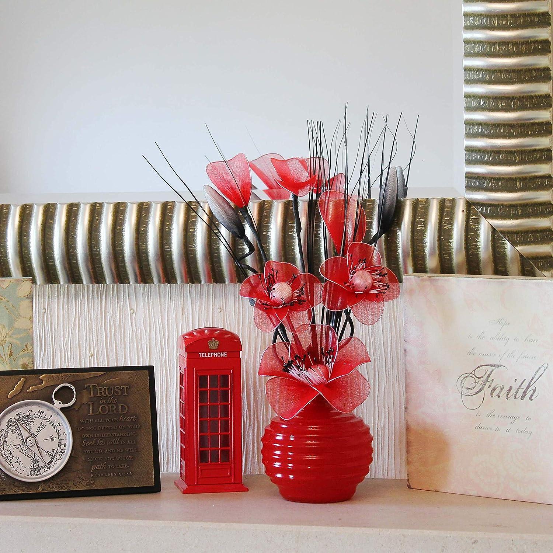 Vases for Flowers Pair of Black//Purple 10x10x32 cm Pueple Flourish 813 Mini Ornaments 32 cm Matching articial
