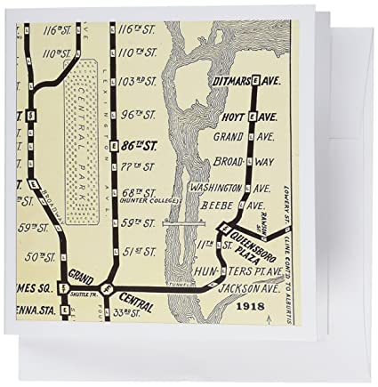 Subway Map Paper Products.Amazon Com 3drose Image Of Map Of New York Subway On Sepia Vintage