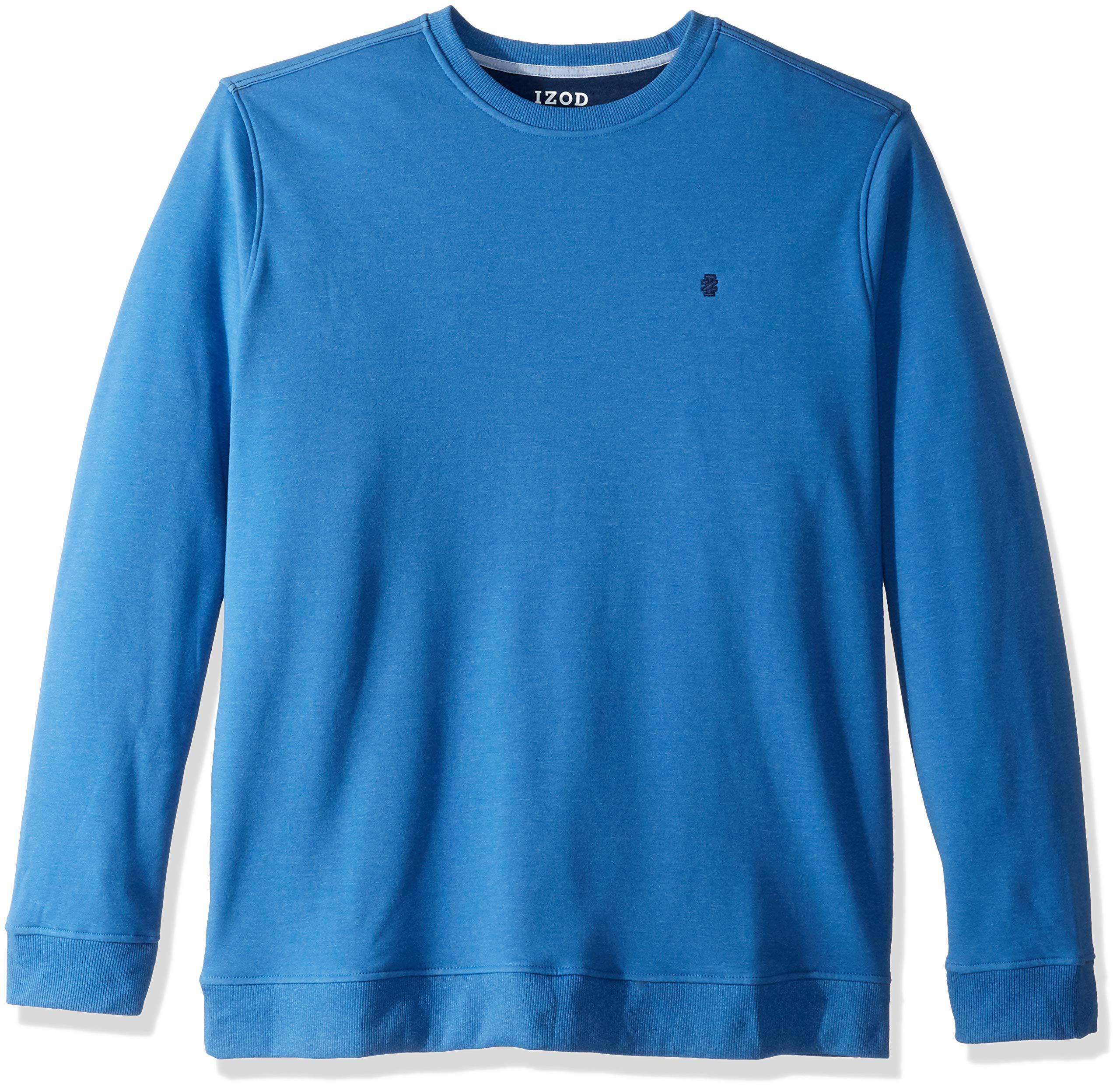 IZOD Men's Big and Tall Advantage Performance Crewneck Fleece Sweatshirt, Bright Cobalt, 2X-Large