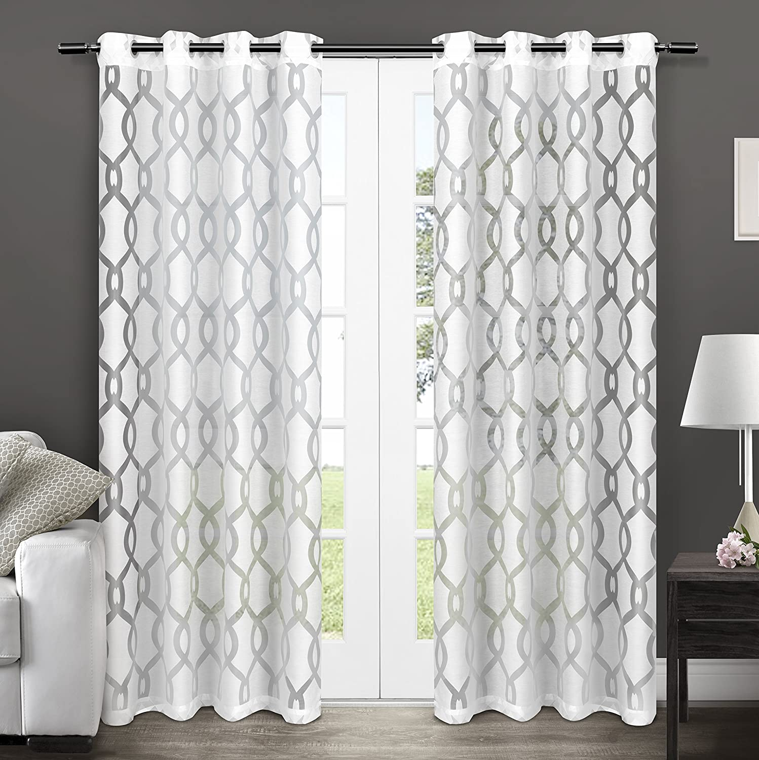 green gray gallery escape pictures curtain inch sheer outdoor leaf including curtains drapes