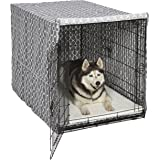 MidWest Wire Dog Crate Covers in Black or Camouflage Polyester or a Heavy-Duty Cotton / Polyester Blend Featuring Teflon Fabric Protector