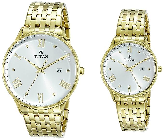 Bandhan Analog White Dial Couple Watch - 9400194201YM01