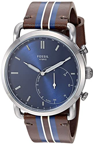 Amazon.com: Fossil Mens Stainless Steel Hybrid Watch with ...