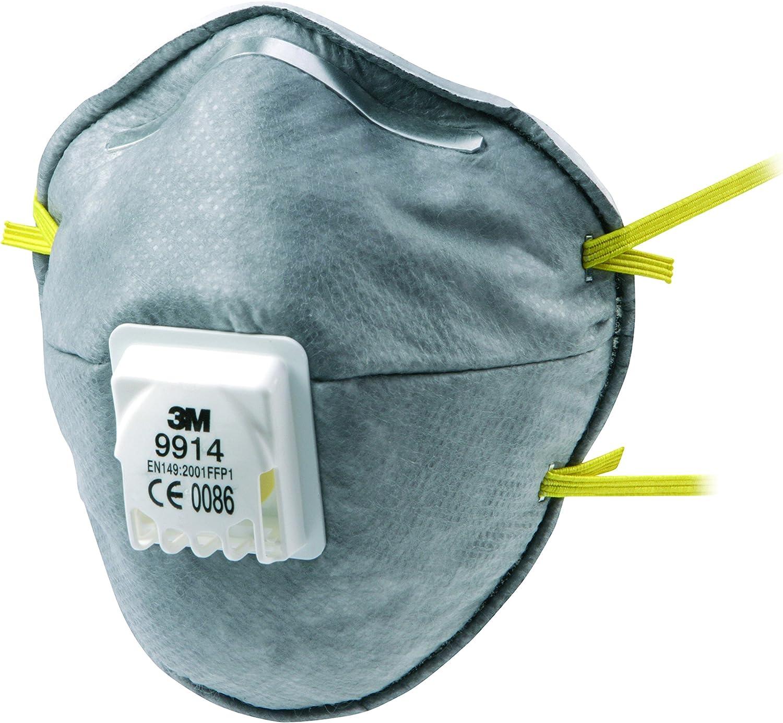 3M xA004837721 Respirador Antipartículas Serie Especial, Blanco y Amarillo