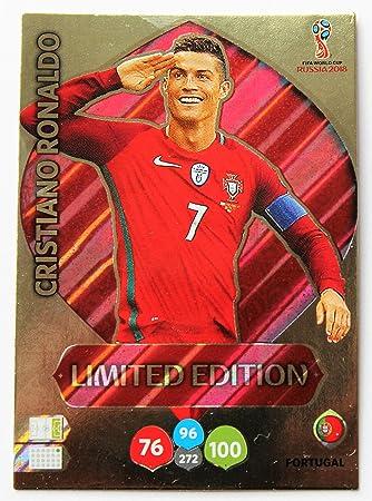 Cromo Panini Adrenalyn XL de Cristiano Ronaldo en la Copa del Mundo 2018, edición limitada: Amazon.es: Deportes y aire libre