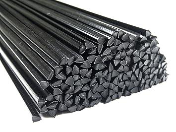 Alambre de soldadura de plástico PP/EPDM 4mm Triangulares Negro 25 barra: Amazon.es: Coche y moto