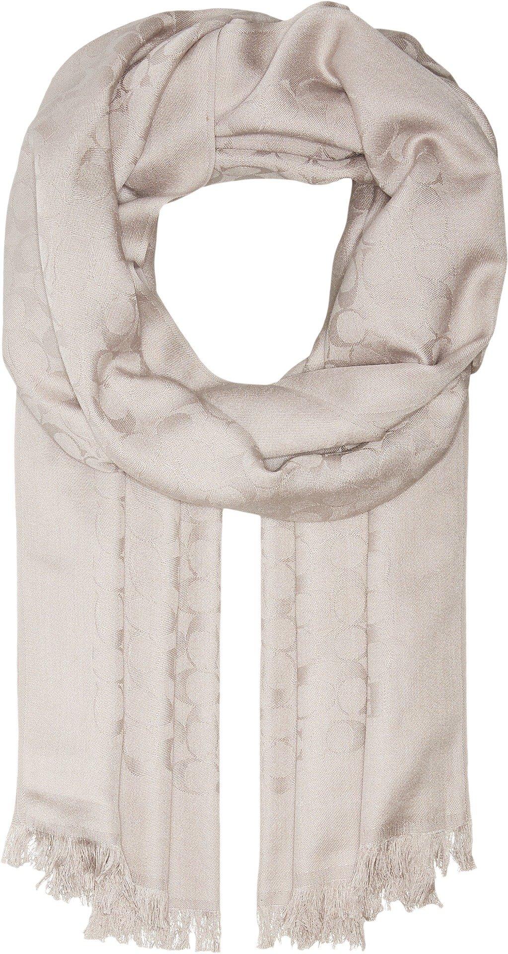 COACH Women's Signature Stole Grey One Size