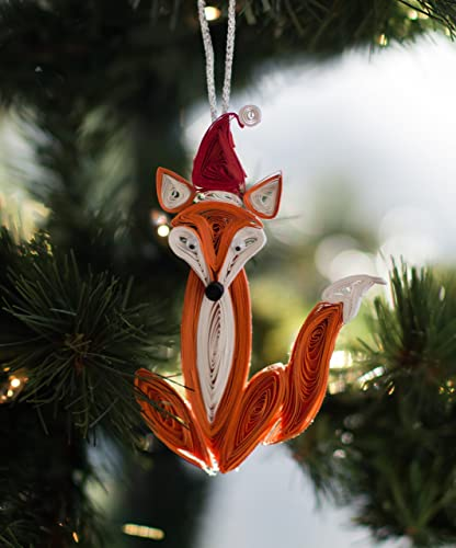 Amazon Com Woodland Christmas Ornament Featuring A Paper Quilled