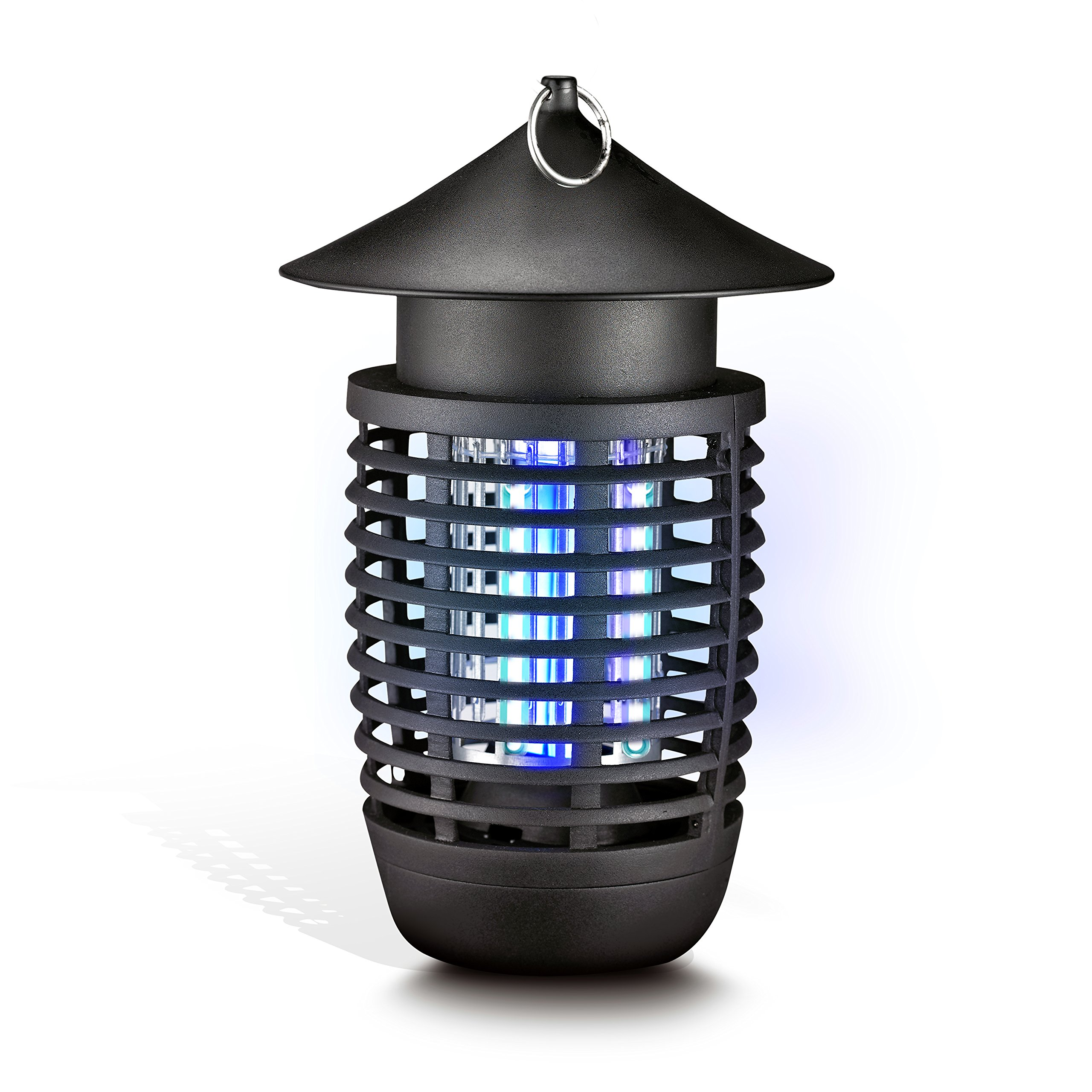 SereneLife Weatherproof Electric Bug Zapper - Hanging Insect Eliminator, Flying Bug Trap, Fly and Mosquito Killer - Electronic Plug In Lamp with UV Light - For Home, Indoor, and Outdoor Use - AZPSLBZ6