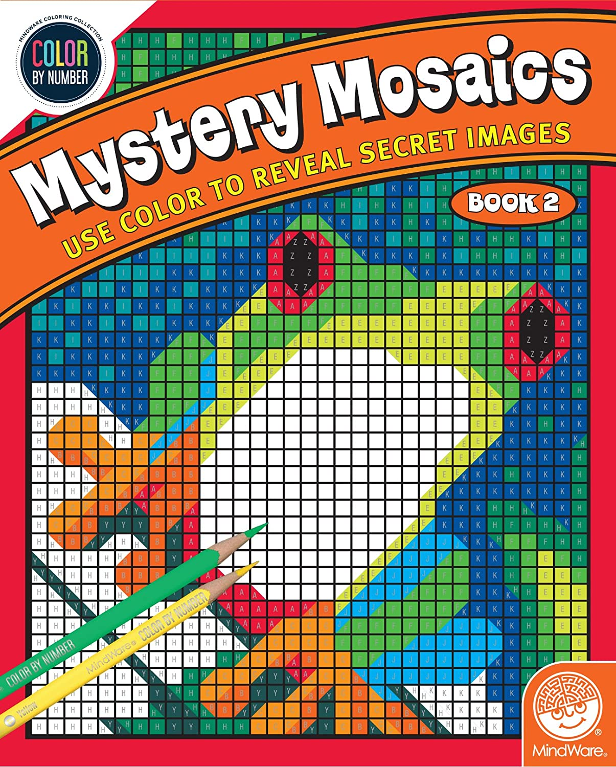 Amazon.com: Color By Number Mystery Mosaics: Book 2: Toys & Games