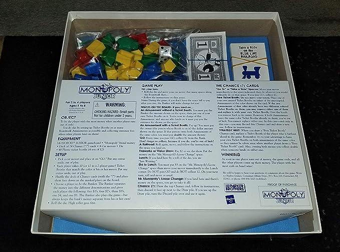 Monopoly Junior-RARE-Parker English Edition 1999: Amazon.es: Juguetes y juegos
