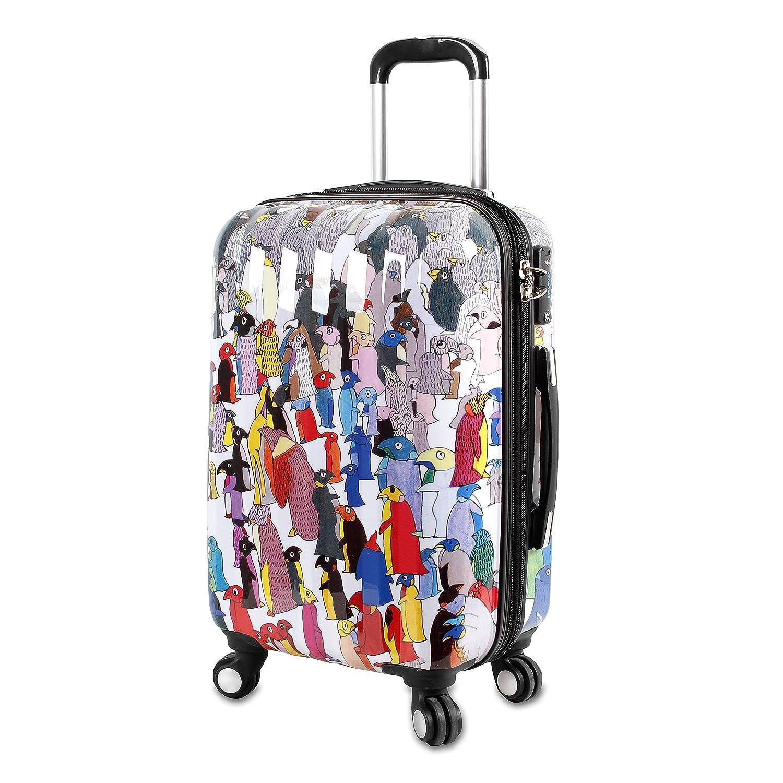 J mundo Nueva York arte policarbonato equipaje pingüino talla única: Amazon.es: Equipaje