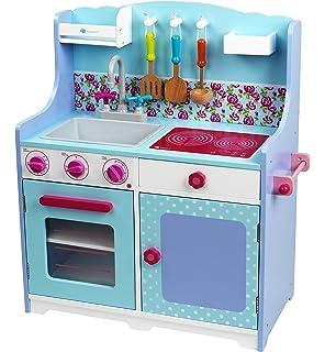 HOMCOM - Cucina Giocattolo per Bambini in Legno con Accessori ...