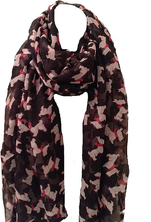 NEW 2018 Women Westie Yorkshire Terrier Scottie Dog Print Scarf Wrap Shawl