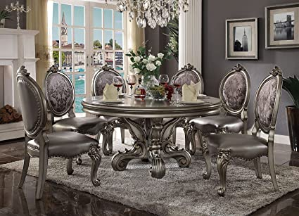 Fabulous Amazon Com Inland Empire Furniture Julien 7 Pcs Round Download Free Architecture Designs Grimeyleaguecom