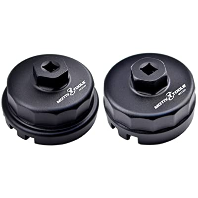 Motivx Tools 2pc Oil Filter Wrench Set for Toyota & Lexus Vehicles - Includes Wrenches for 1.8L and 2.0L - 5.7L Engines: Automotive