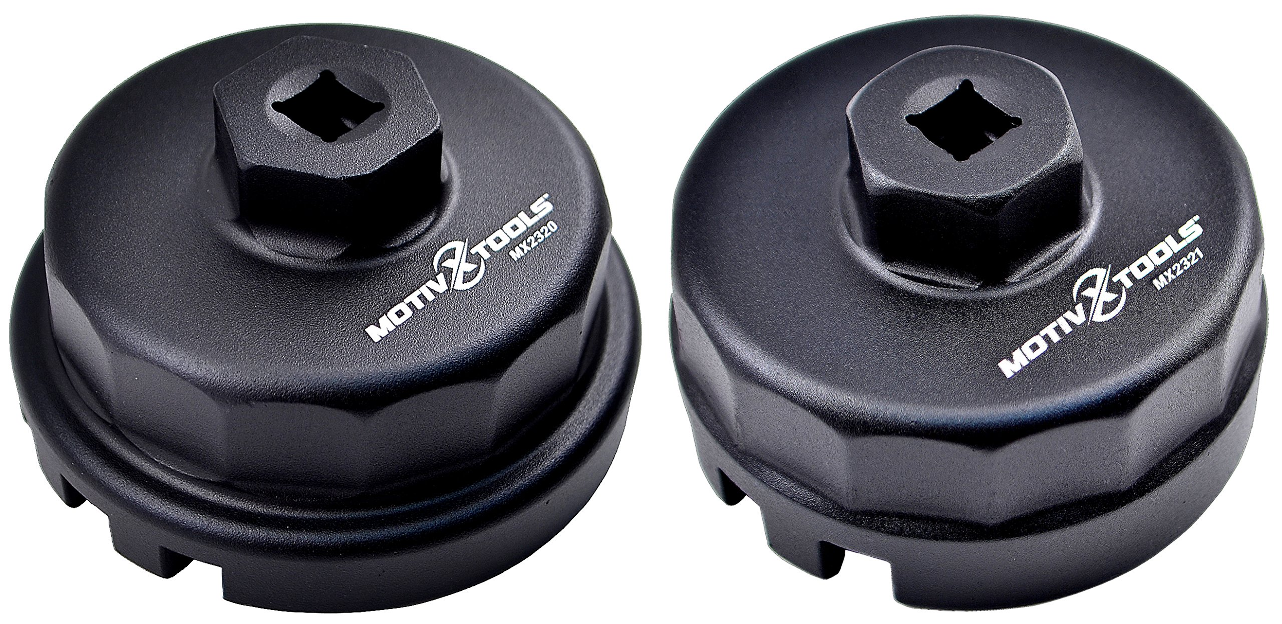 Motivx Tools 2pc Oil Filter Wrench Set for Toyota & Lexus Vehicles - Includes Wrenches for 1.8L and 2.0L - 5.7L Engines
