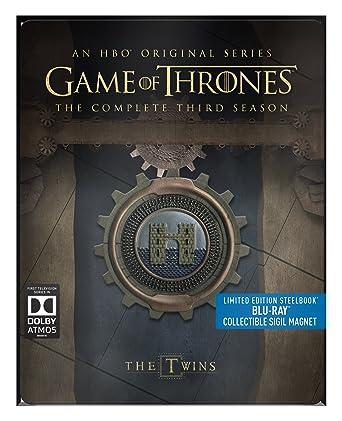 GAME OF THRONES SEASON 3 STEELBOOK BLU RAY REGION FREE AUDIO ...