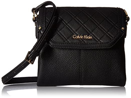 Calvin Klein Permanent Quilted Pebble Flap Crossbody, Black ... : calvin klein quilted leather crossbody bag - Adamdwight.com