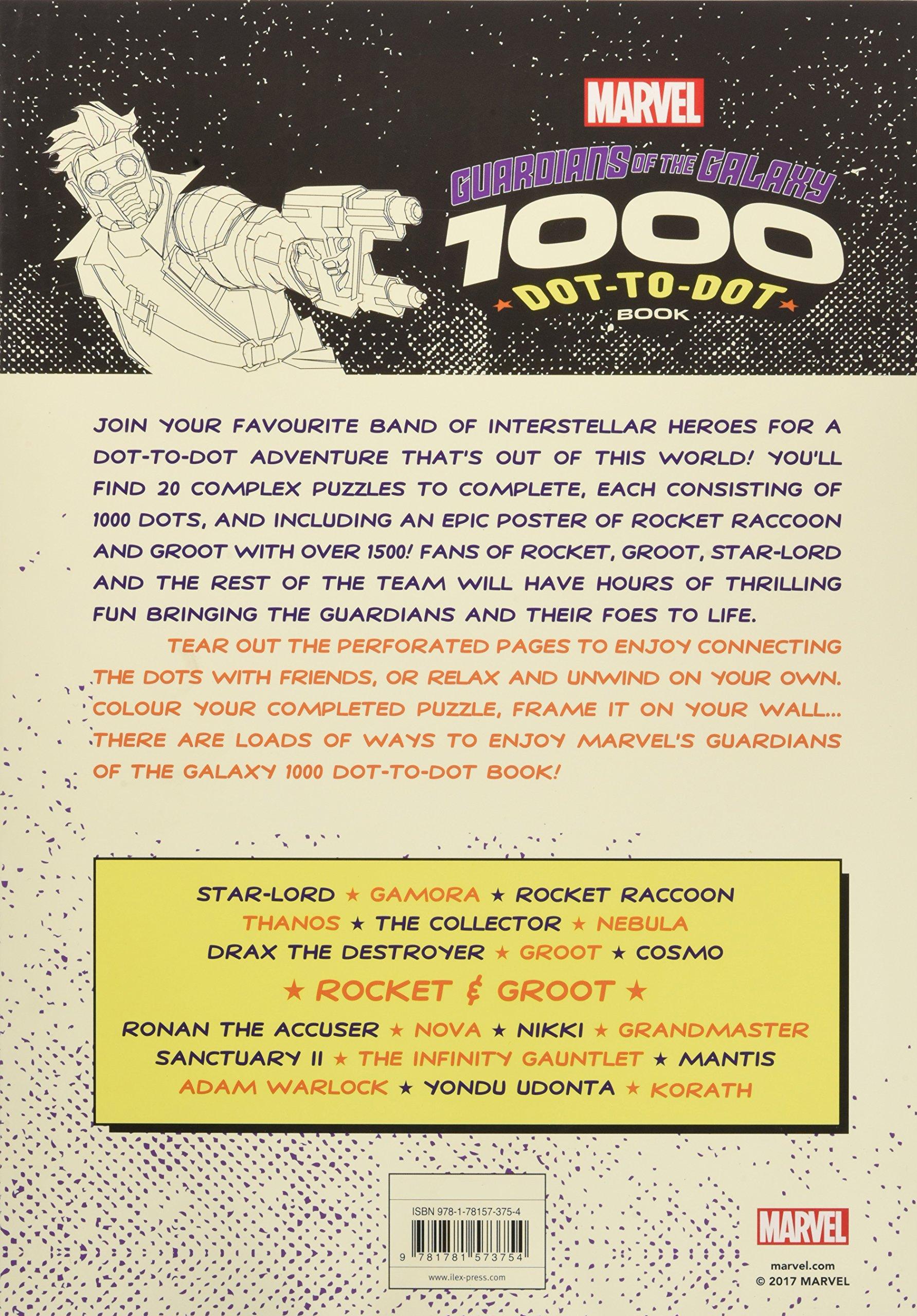marvel u0027s guardians of the galaxy 1000 dot to dot book twenty