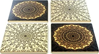 product image for Set of 4 Musical Notes Wooden Coasters - Music - Notes - Strings