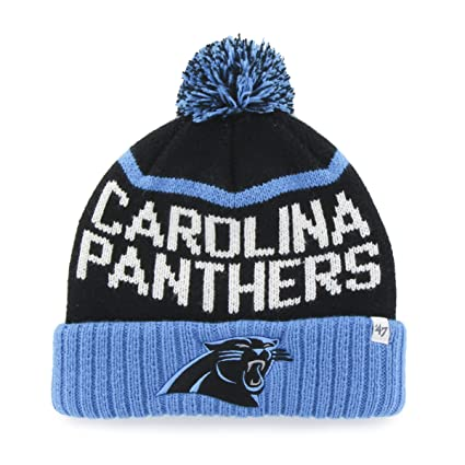 Buy  47 NFL Carolina Panthers Linesman Cuff Knit Beanie with Pom ... b10c1ad26