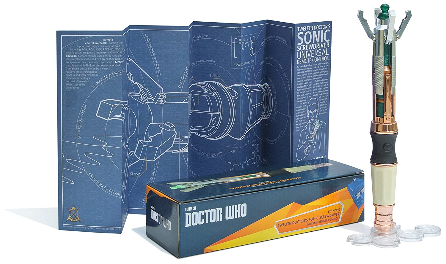 The Wand Company WRC11015 Twelfth Doctor's Sonic Screwdriver Universal Remote Control The Wand Company Ltd. - US Accessory Consumer Accessories
