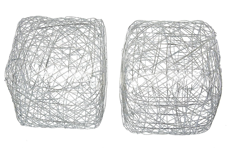 Amazon.de: Draht Würfel 5cm (6 Stück) silber, Metall, silber, 5 x ...