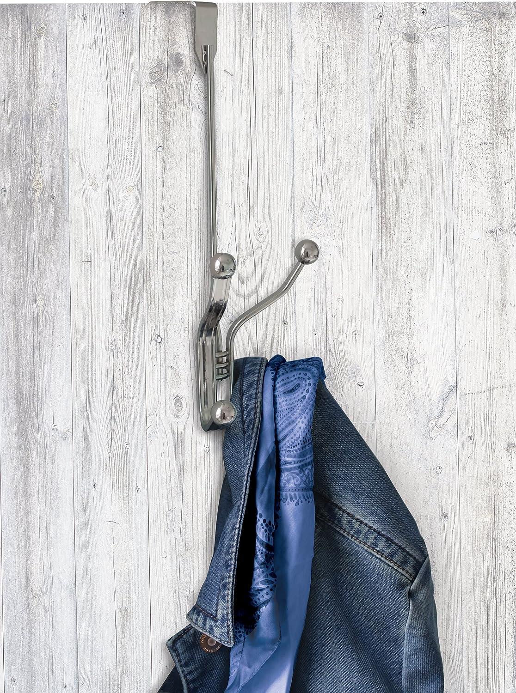 Splash Home 19TANGO//2HWHTSPL Tango Over The Door 2 Hook Rack 12 x 3 x 5 White Glossy