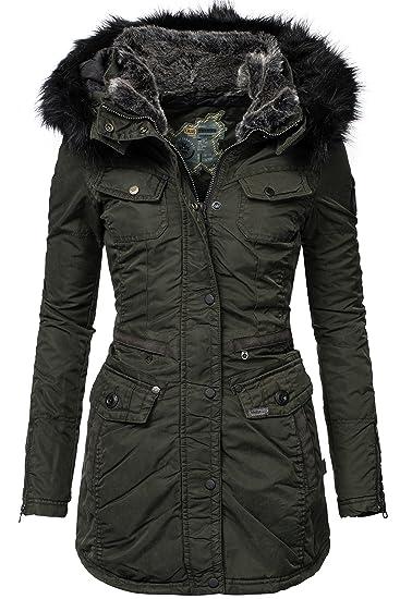 Original KHUJO schwarze jacke Mantel warm winter herbst NEU