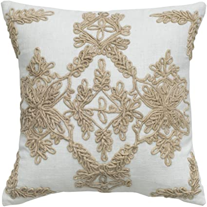Amazon Rizzy Home T40 Jute Embroidery And Cording Details Simple Decorative Cording For Pillows