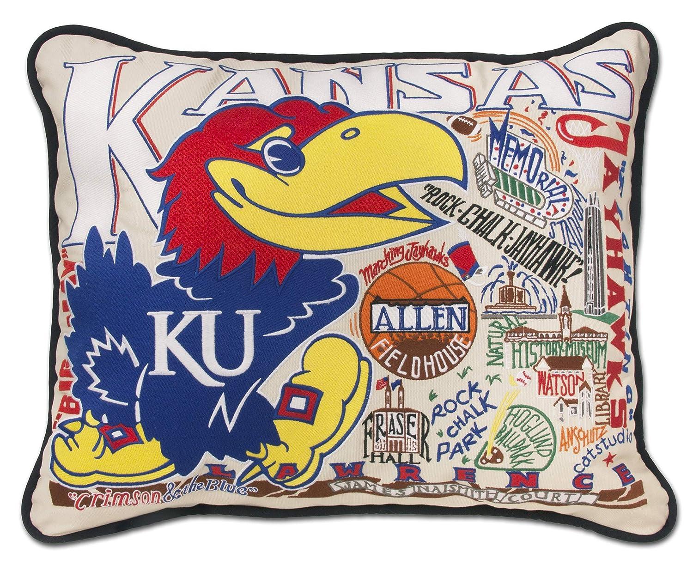 カンザス大学のCollegiate刺繍枕 – Catstudio   B01BVUI72K