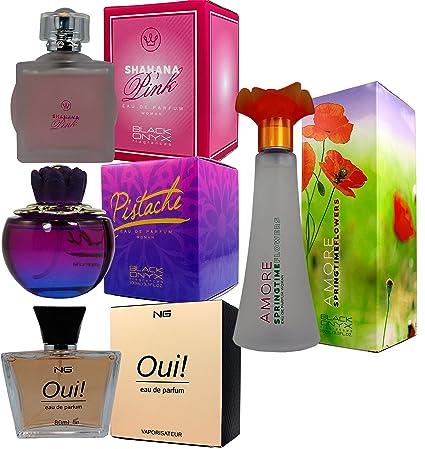 Set de 4 (Cuatro) Perfumes franceses de alta calidad Para Mujer Pistache 100ml +