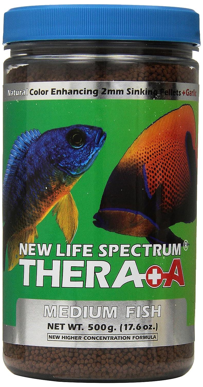 500gm New Life Spectrum Thera-A Medium 2mm Sinking Salt Freshwater Pet Food, 500gm