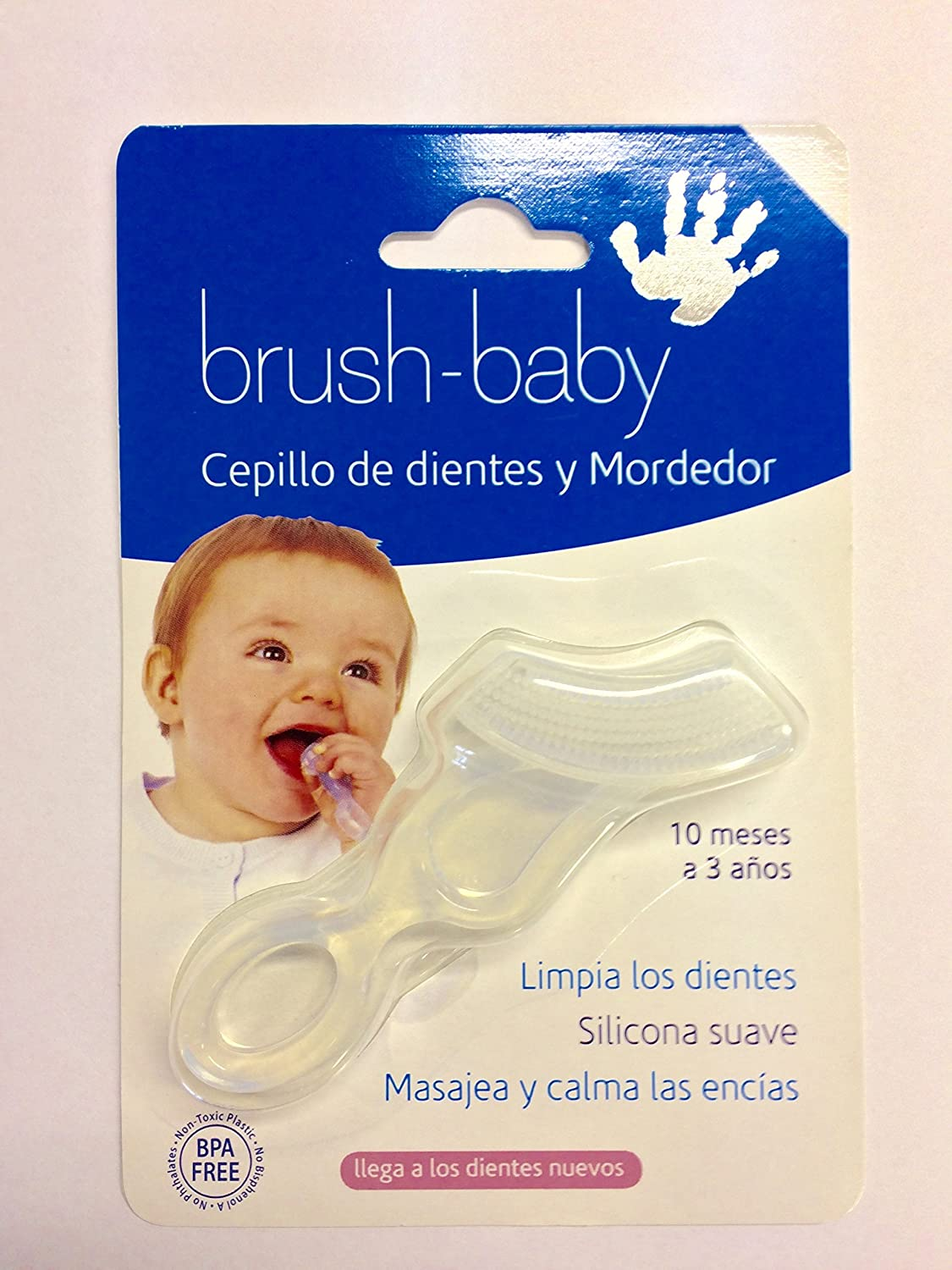 Brush-Baby Cepillo de dientes y Mordedor: Amazon.es: Bebé