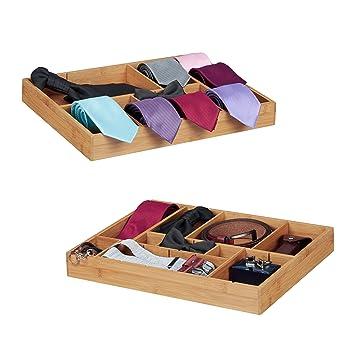 Besteckkasten Bambus Schubladeneinsatz für Küche Organizer