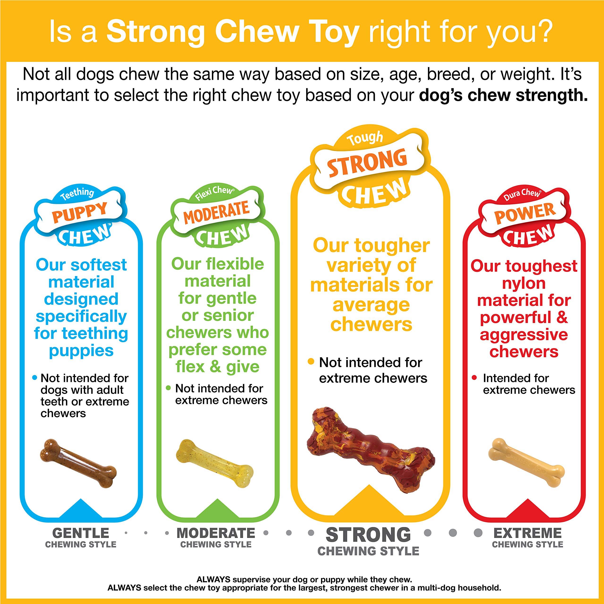 Nylabone Rubber Camo Bone Strong Chew Dog Toy Duck Regular