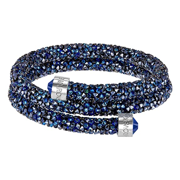 Swarovski Brazalete Crystaldust Double, Azul