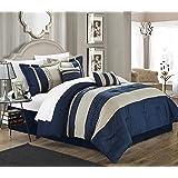 Chic Home Carlton 6-Piece Comforter Set, Queen Size, Navy